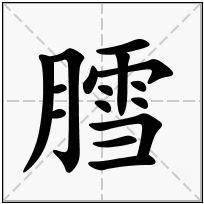 《膤》-康熙字典在线查询结果 康熙字典
