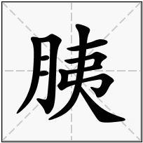 《胰》-康熙字典在线查询结果 康熙字典